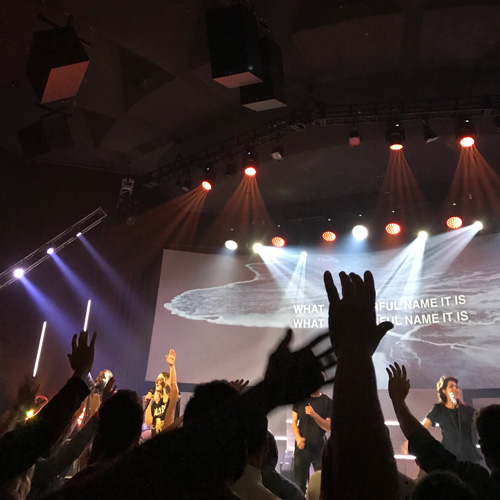 image of energetic worship service